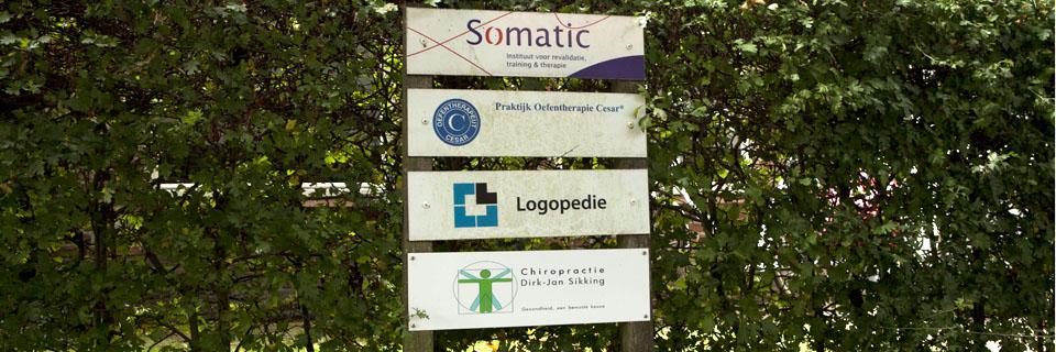 Naambord van Chiropractie Utrechtse Heuvelrug